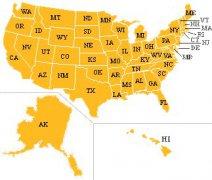 美国有多少个州?分别是什么?「中英对照」